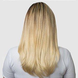 Aplique Liso Médio Tic Tac Hairdo 48cm Louro Sueco