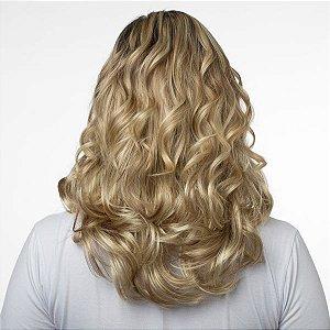Aplique Ondulado Hairdo 45cm Louro com mechas super claras