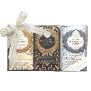 Kit Sabonetes Gold, Black e Platinum Soap Nesti Dante 3x250g