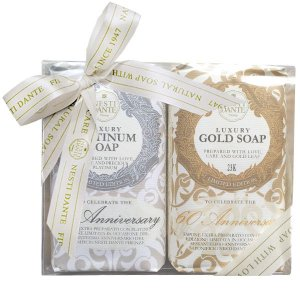 Kit de Sabonetes Luxury Gold e Platinum 2x250g Nesti Dante