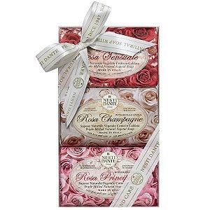 Kit Sabonetes Le Rose Nesti Dante 3x 150g