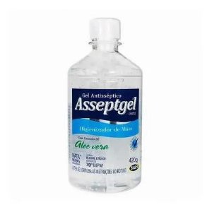 Álcool Gel 70 AsseptGel Cristal 420g