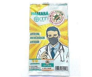 Máscara Defense Antiviral  Partículas de Prata DDN sachê 1un