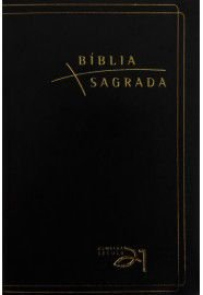 Bíblia Almeida 21 Luxo - Preta c/ referência cruzadas / Vida Nova