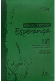 Bíblia de estudo Esperança - Capa Verde / Luiz Sayão - Editor