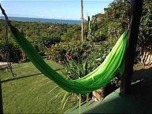 Rede de Dormir Verde Fluorescente em Tecido de Paraquedas Portátil