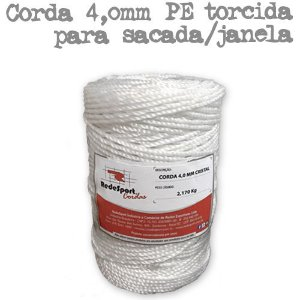 Corda CRISTAL 4,0 mm PE torcida (Preço por Kilo)