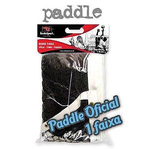 Rede de Paddle Oficial Profissional Lona em COURO - 1 Faixa (un)