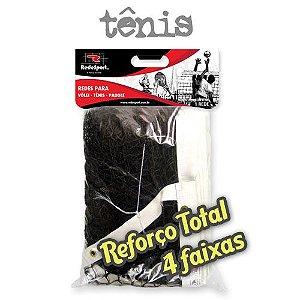 Rede de Tênis Campo Quadra REFORÇO TOTAL Lona em COURO - 4 Faixas (un)