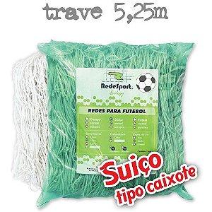 Rede para Gol Trave Oficial Futebol SUIÇO 5,25m Ecology - Tipo Caixote (par)