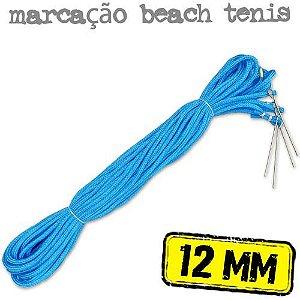 Marcação para Quadra de Beach Tennis em Corda AZUL 12mm - (16x8mts)