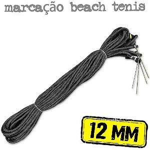 Marcação para Quadra de Beach Tennis em Corda PRETA 12mm - (16x8mts)