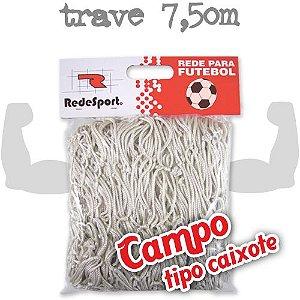 Rede para Gol Trave Oficial Futebol de CAMPO Poliéster - Tipo Caixote (par)