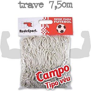 Rede para Gol Trave Oficial Futebol de CAMPO Poliéster - Tipo Véu (par)