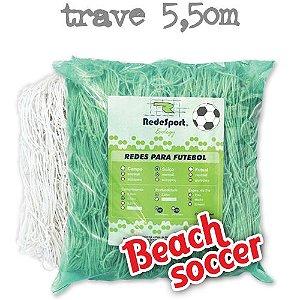 Rede para Gol Trave Beach Soccer / Futebol de Areia 5,50m Ecology - Tipo Véu (par)