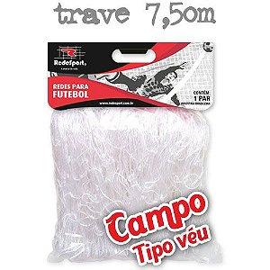 Rede para Gol Trave Oficial Futebol de CAMPO Cristal - Tipo Véu (par)