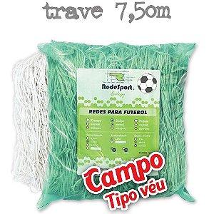 Rede para Gol Trave Oficial Futebol de CAMPO Ecology - Tipo Véu (par)