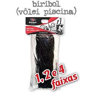 Rede para Vôlei Piscina Preta Biribol - 5,00m (1, 2 e 4 Faixas)