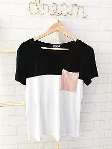 T-Shirt Bolso Rosa