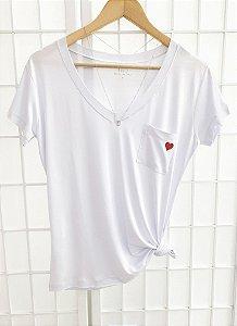 T-Shirt Coração - Branca