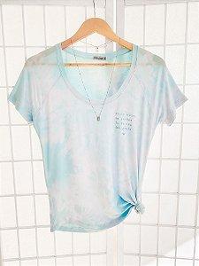 T-Shirt HO'OPONOPONO Tie Dye - Azul