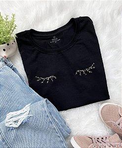 T-Shirt Cílios - Preta
