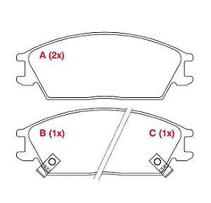 Pastilha de freio dianteira JAC J3/J3 turin 1.4 16v 11/