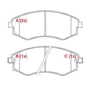 Pastilha de freio dianteiro JAC J5 1.5/ J6 2.0 16v 11/
