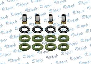 Kit anel vedação dos bicos injetores c/filtro Hyundai HB20 1.0/1.6 - DS1259