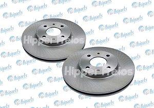 Disco de freio dianteiro ventilado sem cubo Fiat 500/ Fiorino/ Idea/ Linea/ Palio/ Punto/ Stilo/ Tempra/ Uno  - HF-32