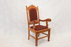 Cadeira Poltrona de Madeira Presidente Betel 001
