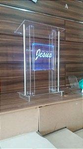 Púlpito em Acrílico e Inox - Calebe 004
