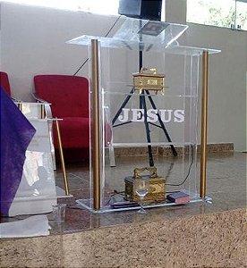 Púlpito em Acrílico e Inox - Calebe 005