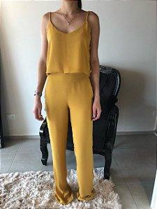 Conjunto Cropped e Pantalona Samara
