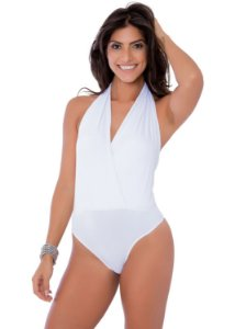 Body Frente Única Transpassada Off White