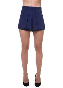 Short Georgette Sobreposto Azul