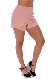 Short em Linho com Bolsos Embutidos Rosê