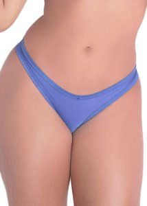 Calcinha Detalhe Renda Posterior Azul