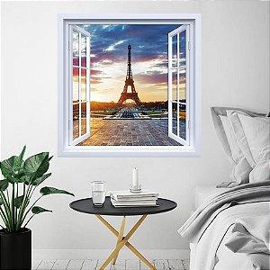 Adesivo de Janela Torre Eiffel