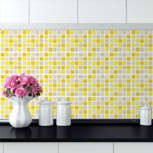Adesivo Azulejo Pastilhas Amarelas