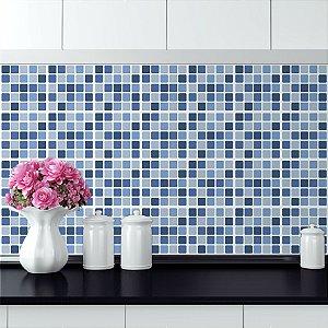 Adesivo Azulejo Pastilhas Azuis