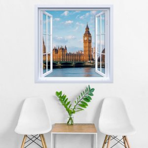 Adesivo de Janela Big Ben Londres
