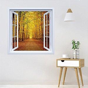 Adesivo de Janela Outono Floresta