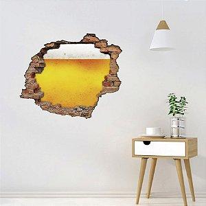 Adesivo Buraco 3D - Cerveja