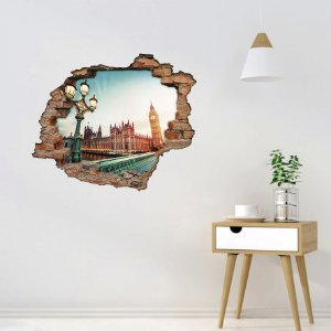 Adesivo Buraco 3D - Londres