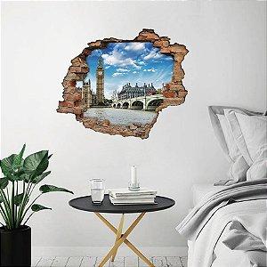 Adesivo Buraco 3D - Big Ben