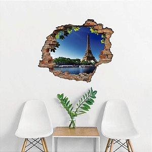 Adesivo Buraco 3D - Torre Eiffel