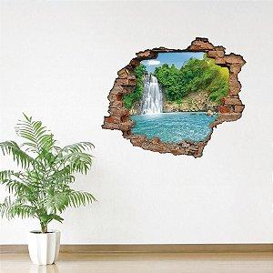 Adesivo Buraco 3D -  Aguas Cristalinas