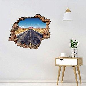 Adesivo Buraco 3D - Estrada Grand Canyon