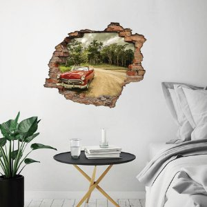 Adesivo Buraco 3D - Carro Vintage